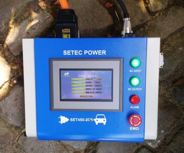 SETEC DC Ladegerät 10kW mit Chademo oder CCS Adapter