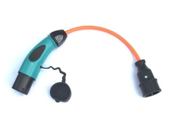Adapter Typ 2 Stecker auf Schuko Kupplung