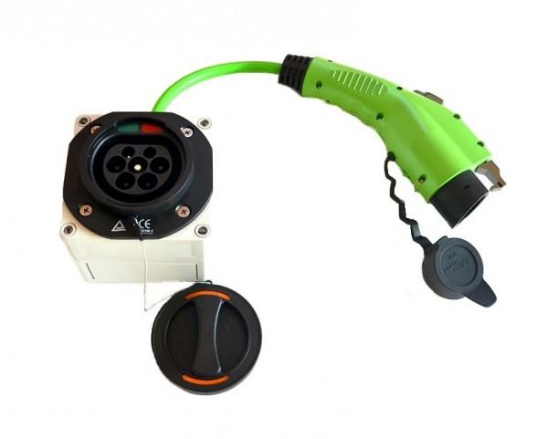 Adapter Typ 2 Gerätestecker auf Typ 1 Kupplung