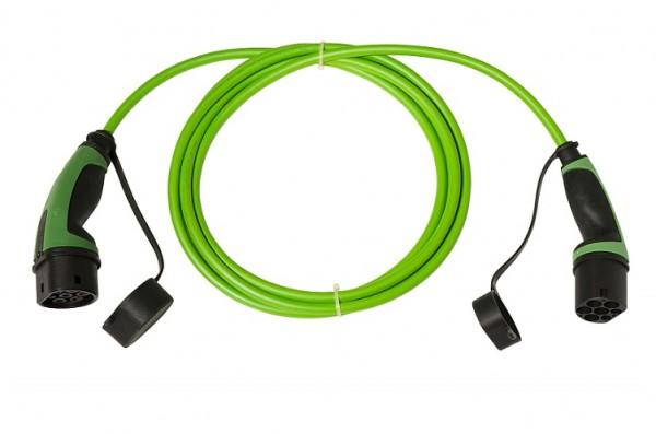 Ladekabel Typ 2 Stecker auf Typ 2 Kupplung 230V / 1-phasig / glatt