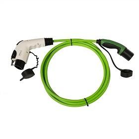 Ladekabel Typ 2 Stecker auf Typ 1 Kupplung 230V / 1-phasig / glatt