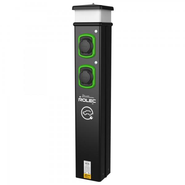 Ladesäule ROLEC BasicCharge 2x 400V 22kW