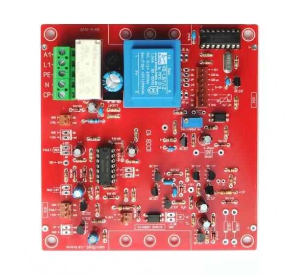 Ladesteuerung (EVSE) mit Potenziometer und DC Sensor 6mA