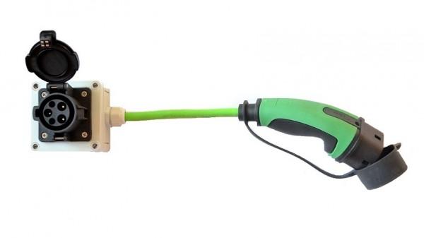 Adapter Typ 1 Gerätestecker auf Typ 2 Kupplung