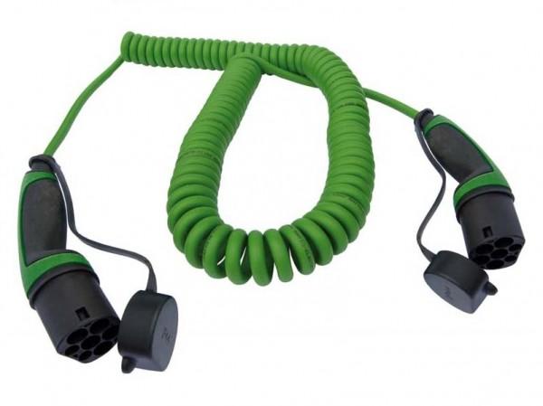 Ladekabel Typ 2 Stecker auf Typ 2 Kupplung 400V / 3-phasig / spiral
